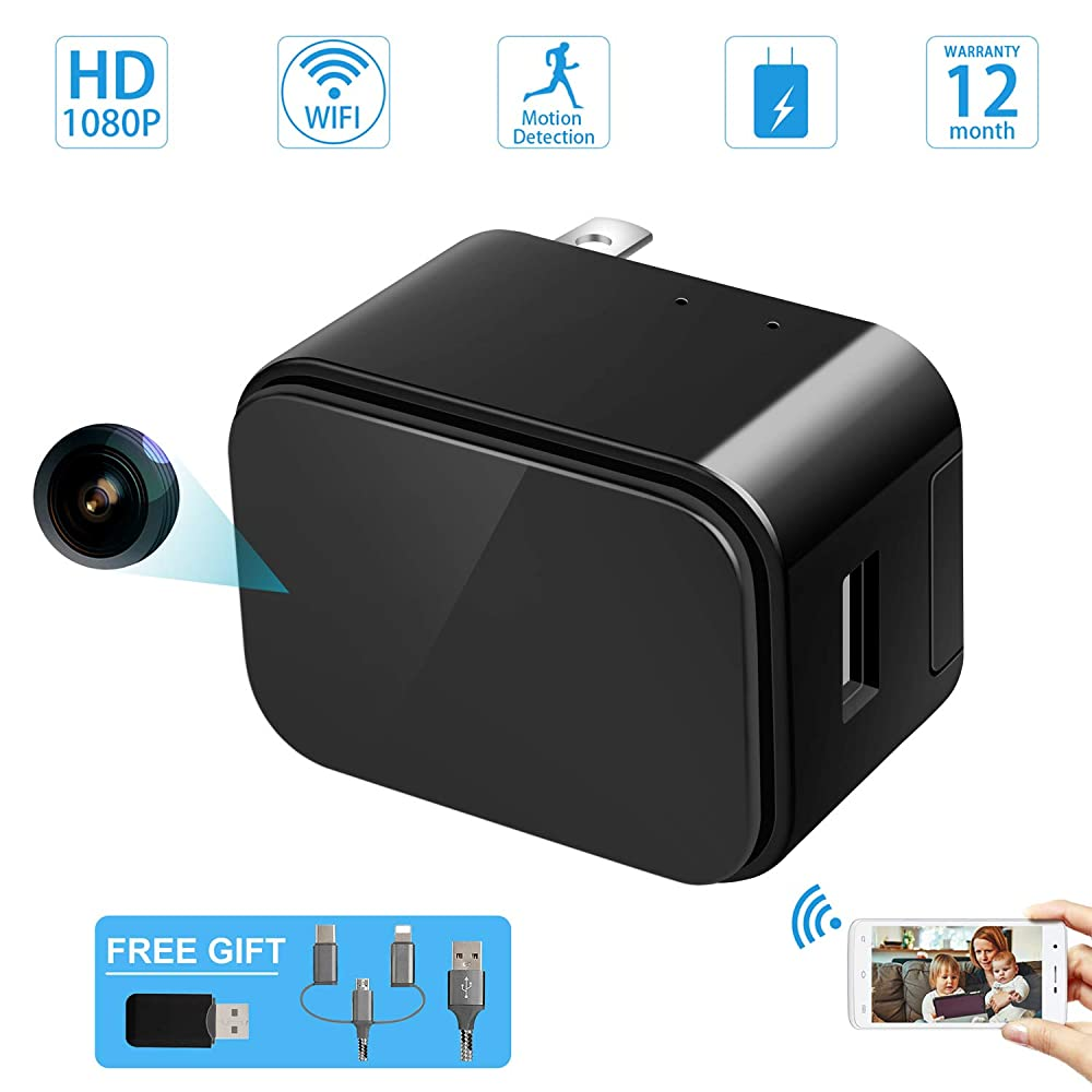 4. SOOSPY Wireless WiFi 1080P Indoor Home Hidden Camera/Nanny Cam with Motion Detection