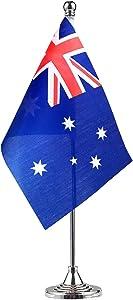 GentleGirl Australia Australian Table Flag,Desk Flag,Office Flag,International World Country Flags Banners,Festival Events Celebration,Office Decoration,Desk,Home Decoration