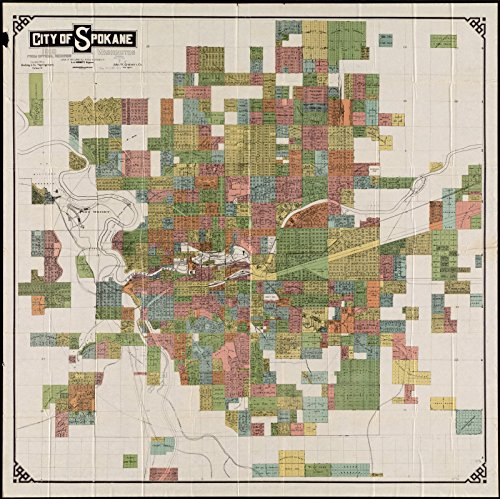 Historic Map City Of Spokane Washington From Official - Buy historical maps