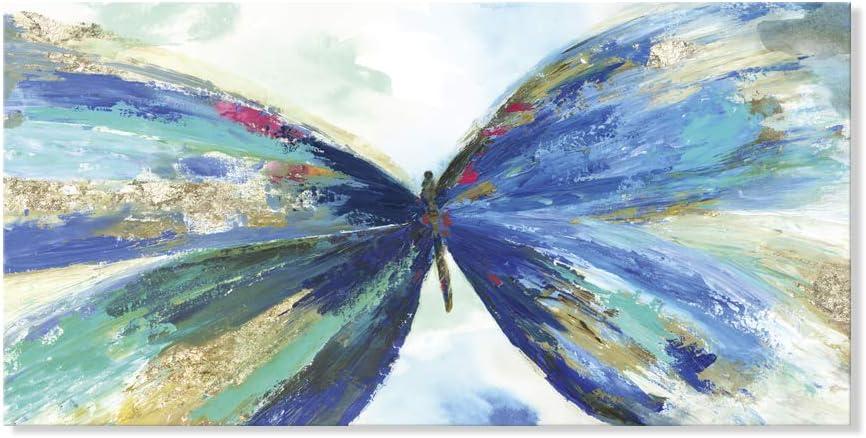 7 Fision Art 抽象画 現代カラフルな蝶 動物絵 フレーム装飾画 壁掛け 客間絵画 インテリア絵画 リビング絵画 新築祝い 贈り物