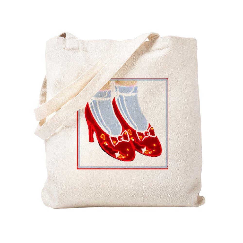 CafePress – レッドRuby Slippers – ナチュラルキャンバストートバッグ、布ショッピングバッグ S ベージュ 0046485643DECC2 B0773SMC91 S