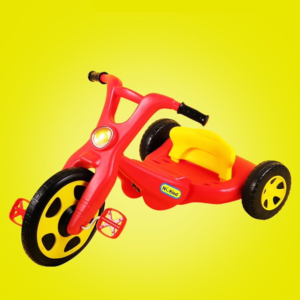 赤ちゃん三輪車は、2-6歳の子供の自転車コンボベビースクーターABSヨーヨー車、青/赤、87 * 53 * 46センチメートル座ることができます (Color : Red) B07CT9J2FX