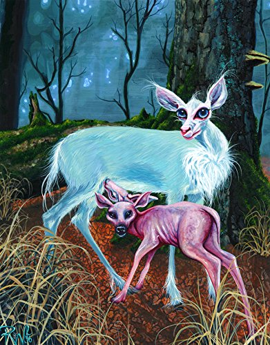 RW2 Signed Fawn Limited Edition Print Surrealism Art by Robert Walker surreal nude apocalyptic painting mutant deer