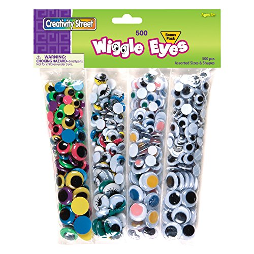 Price comparison product image Creativity Street Wiggle Eyes Multi-Pack, 500-Piece Pack (AC3435)
