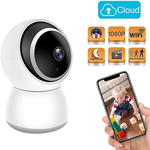 Baby Monitor Home Security Camera 1080P FHD 2.4G WiFi Pet Camera Motion Detection with Night Vision 2-Way Audio Cloud Service – Compatible with iOS Android
