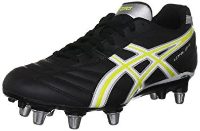 093cbcc894b Asics Men's Lethal Drive Rugby Boot, Black/White/Yellow, 6.5 UK ...