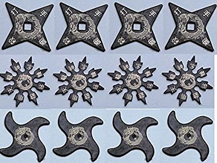 Ninja HD Master Rubber Star set of 12 Throwing Stars