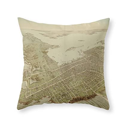 Amazon Society40 Vintage Pictorial Map Of Newport RI 40 Inspiration Newport Pillow Covers