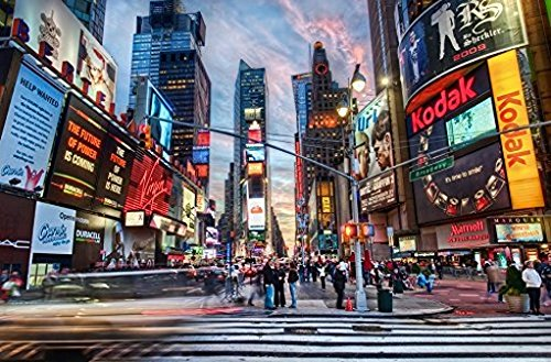 (9X6ft York City Times Square Photography Studio Background High-Grade Portrait Cloth Computer Printed Scenery Photo Backdrop DD-nt7425)