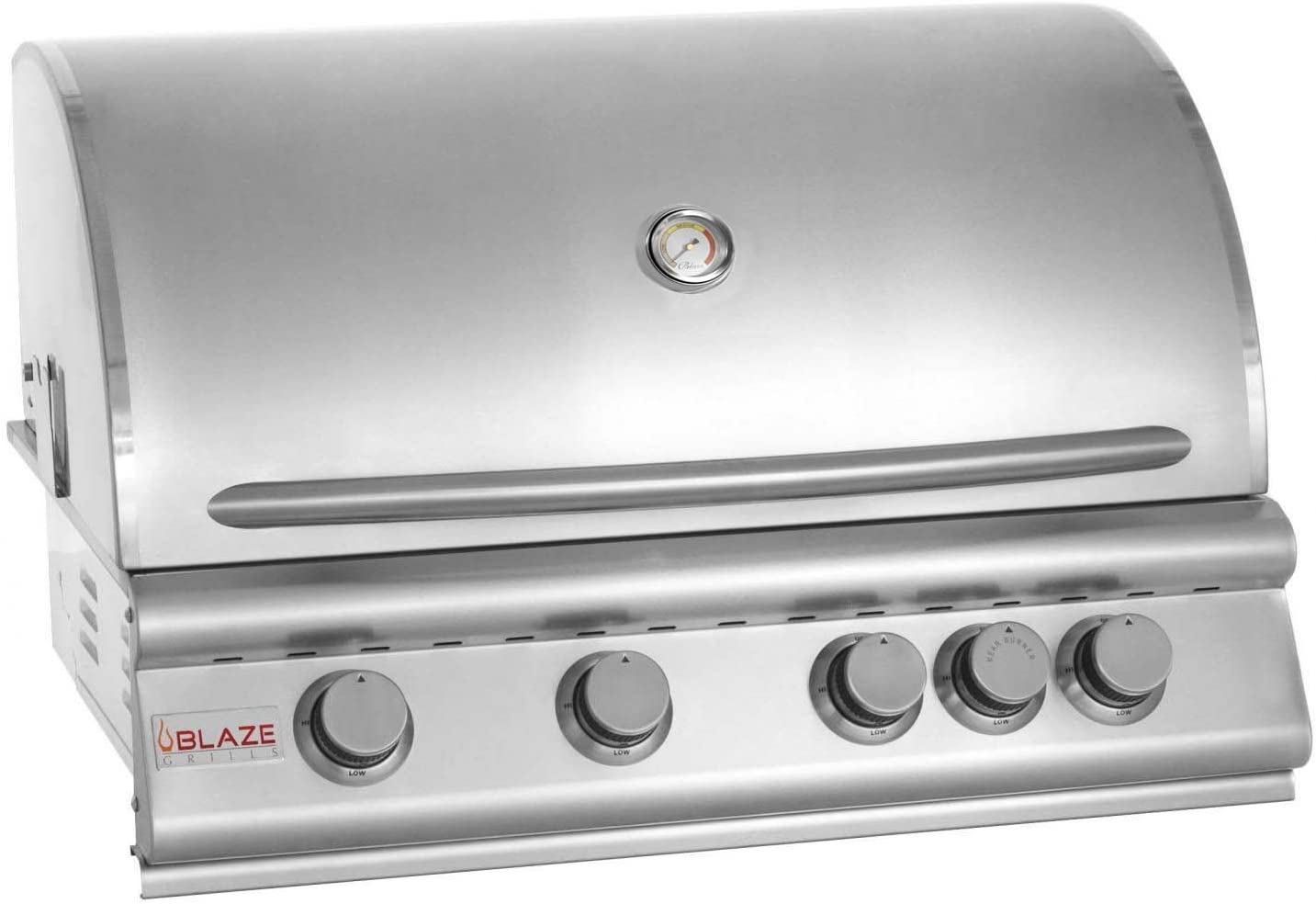 Blaze Grills 32-Inch Built-In 4-Burner Natural Gas Grill with Heat Zone Separators and Rear Infrared Rotisserie Burner