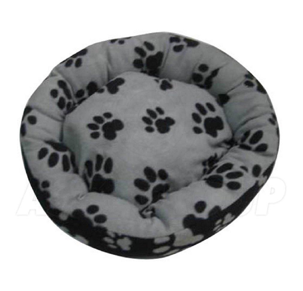 /Color Negro y Gris Grande ASC Suave Mascota Cama/ /Gatos//Perros dise/ño de Huellas de/