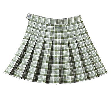 E-Girl E1951 - Falda Plisada para Mujer Verde-1 L=40: Amazon.es ...