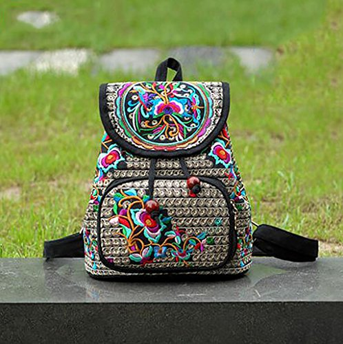 bolso de hombro de la flor bordada / paquete de ocio sencilla femenina ( Color : 17# ) 1#