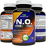 Pre Workout Nitric Oxide Supplement - L-Arginine + L-Citruline - Boosts Exercise Performance & Stamina - Improves Recovery - Supports Heart Health - Increases Libido - 60 capsules - Biogreen Labs