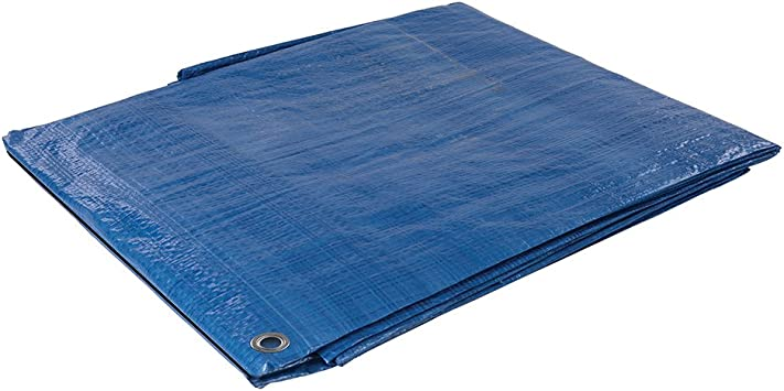 Silverline Tarpaulin 2.4 x 3m 244987 Waterproof Sheet Tarp Cover