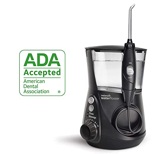 Waterpik Water Flosser Electric Dental Countertop Oral Irrigator For Teeth – Aquarius Professional, WP-662 Black