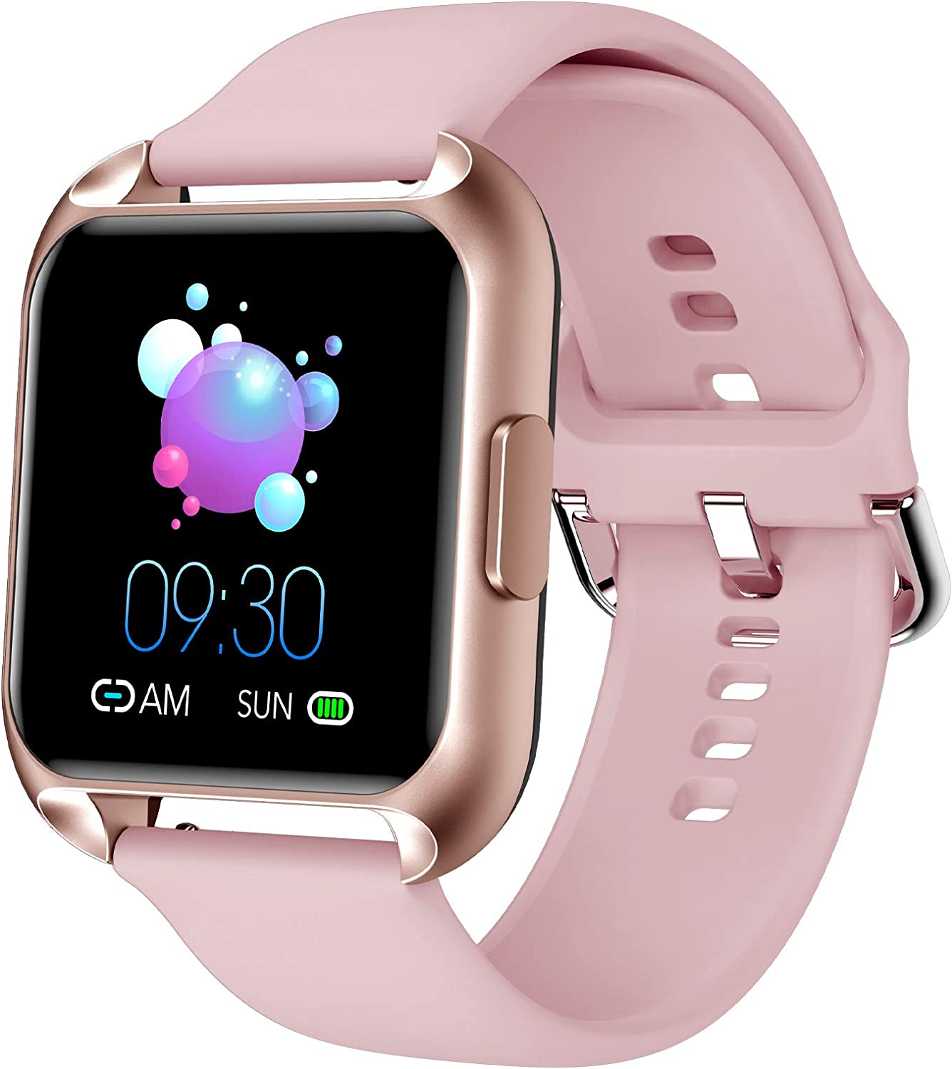 MAXTOP Smart Watch Compatible iPhone Android Phones Waterproof Activity Tracker Watch Heart Rate & Blood Oxygen Monitor Multifunction Smartwatch with Blood Pressure Sleep Tracker for Women (Pink)
