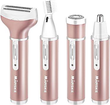 4 en 1 Sin Dolor Afeitadora Femenina - Mini Afeitadora Electrica ...