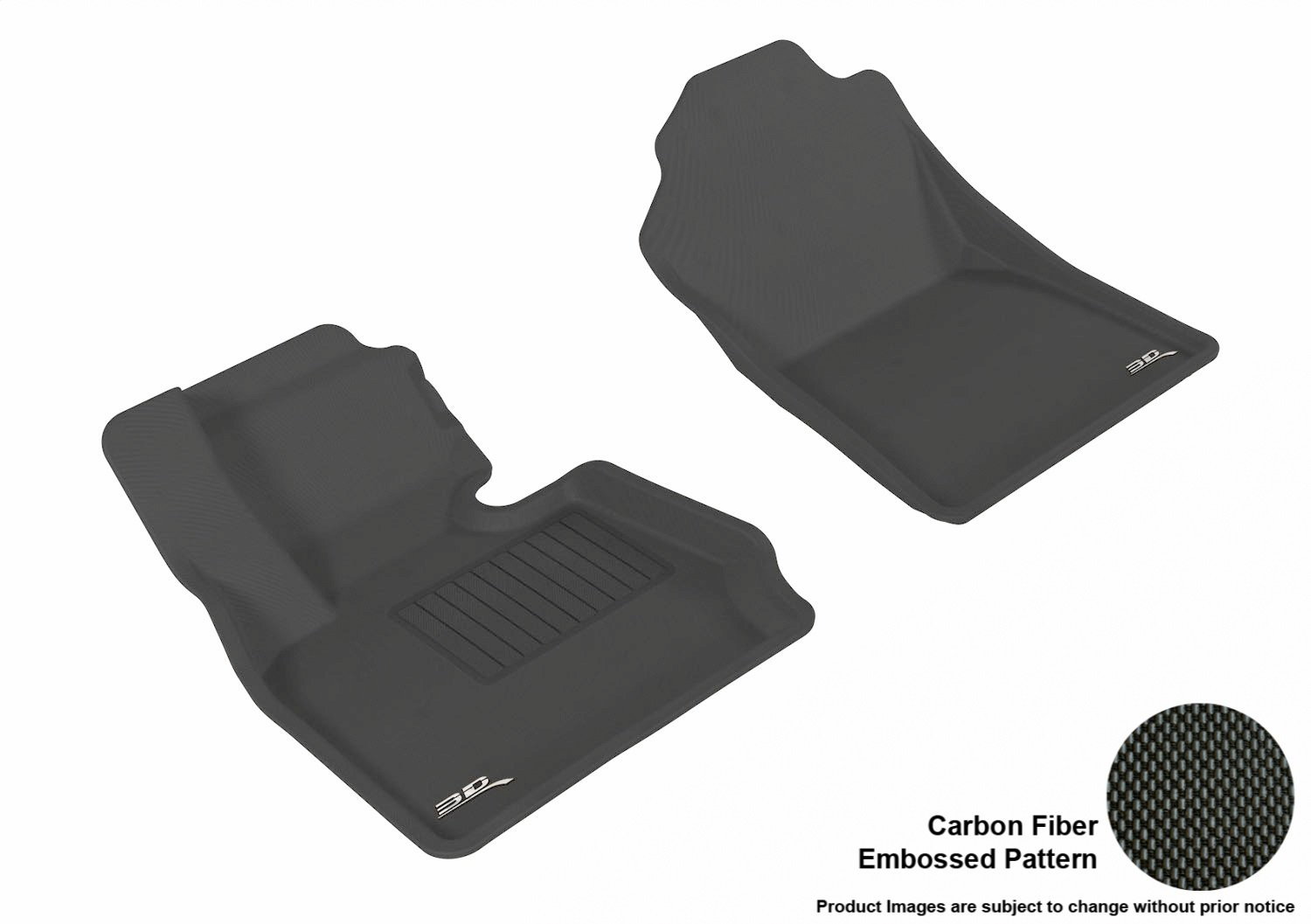Models L1BM03211509 F25 Black // X4 3D MAXpider Front Row Custom Fit All-Weather Floor Mat for Select BMW X3 F26 Kagu Rubber