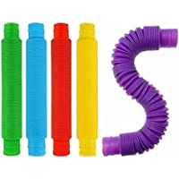 Pop Tubes Sensory Fidget Toys for Kids Adults, Pipe Sensory Tools for Stress and Anxiety Relief, Cool Bendable Multi…