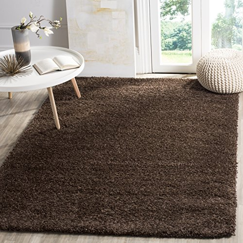 (Safavieh California Premium Shag Collection SG151-2727 Brown Area Rug (9'6