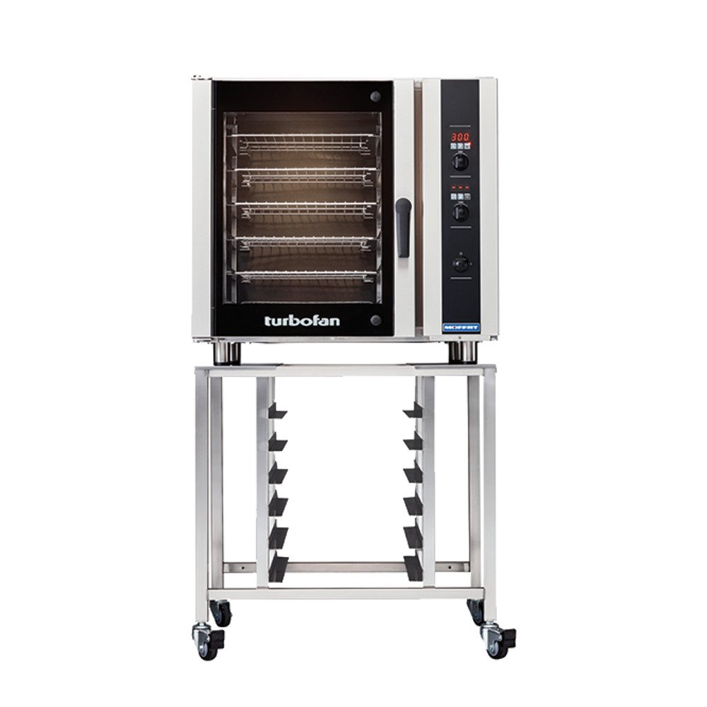 Moffat E35D6-26/SK35 Turbofan Electric Countertop Convection Oven, (6) Full-Size Sheet Pan Capacity With Digital Controls & SK35 Stand