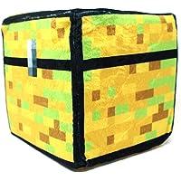 Spainbox Cojin Pixel Cubo de Peluche - Cofre del Tesoro