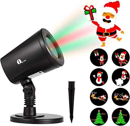 1byone proyector de navidad de luz LED imágenes que cambian ...
