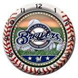 MLB Milwaukee Brewers Game Time Clock