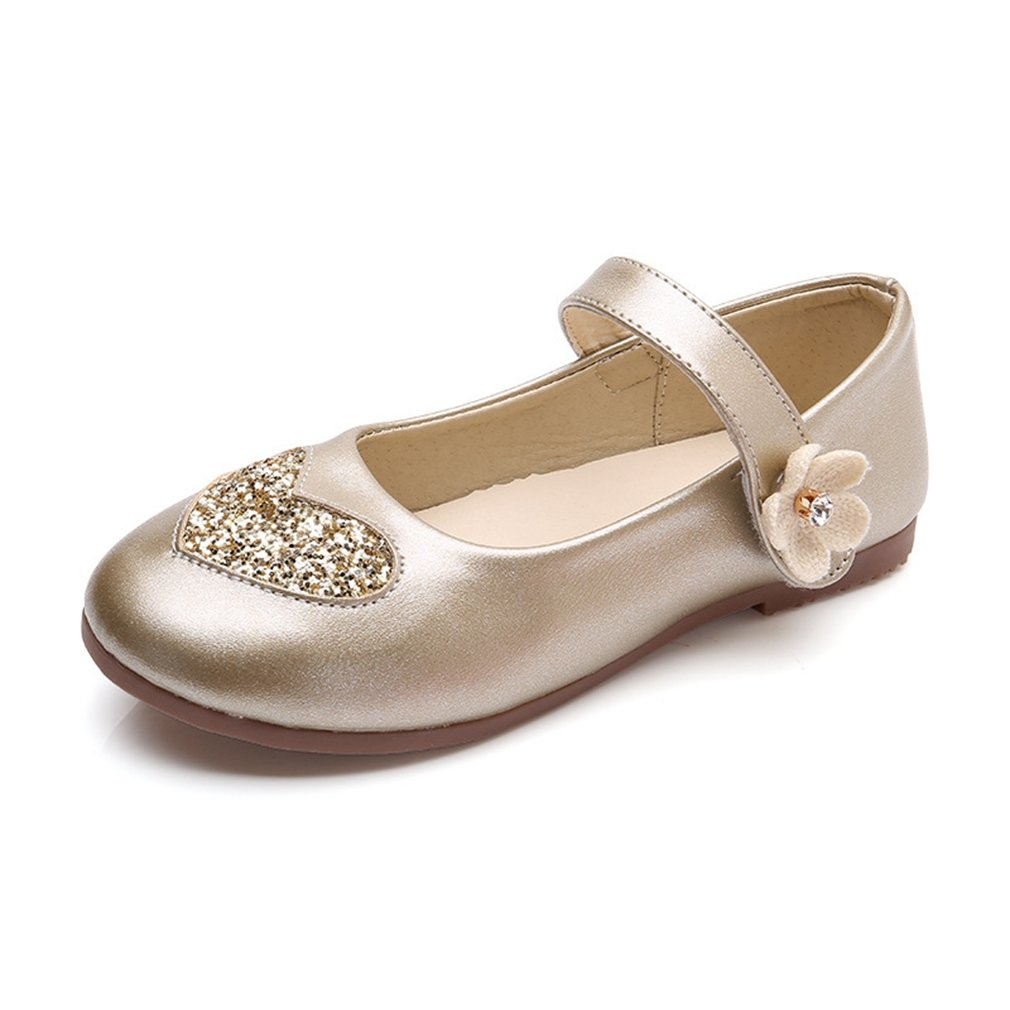 CYBLING Adorable Girls Dressy Mary Jane Ballerina Flat with Pearls Strap Toddler//Little Kid//Big Kid