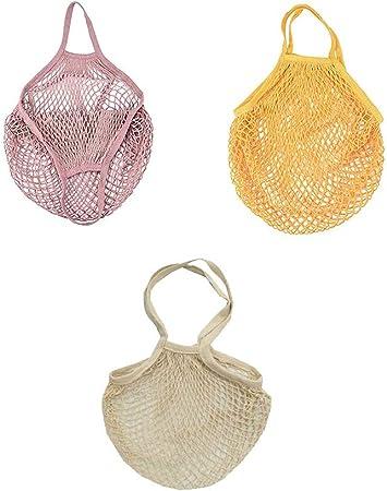 100% algodón Net Shopping bolso, durable, ecológico y buena transpirabilidad para el almacenamiento.