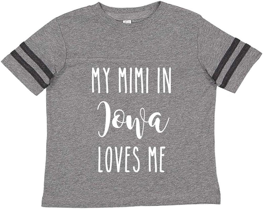 Toddler//Kids Sporty T-Shirt My Mimi in Iowa Loves Me