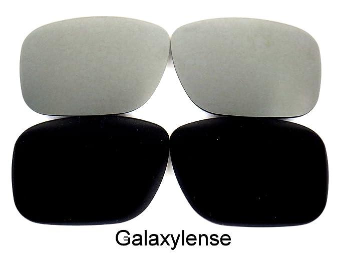 Galaxy lentes de repuesto para Oakley Holbrook Negro y Gris Color Polarizado 2 Pares,