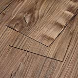 MAYKKE 47 Sq Ft Restored Pine Vinyl Plank Flooring 48'' x 6'' | Resembles Hardwood | Or Use for Wood Accent Wall | Pack of 24, Easy Install, Pine Brown, JHA1000101