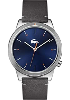 Lacoste Mens Analogue Classic Quartz Watch with Leather Strap 2010990 96566147d95