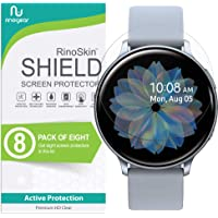(8-Pack) RinoGear Screen Protector for Samsung Galaxy Watch Active 2 (44mm) Case Friendly Samsung Galaxy Watch Active2 (44mm) Screen Protector Accessory Full Coverage Clear Film
