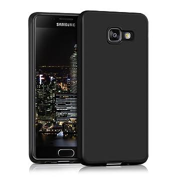 kwmobile Funda compatible con Samsung Galaxy A3 (2016) - Carcasa de [TPU silicona] - Protector [trasero] en [negro mate]