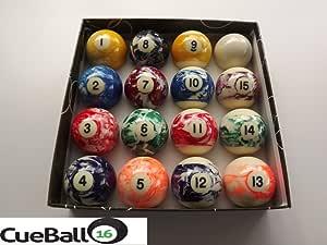 IQ Pool - Juego de bolas de billar rojas y amarillas, diseño ...