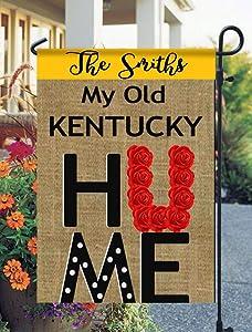 Tow Yus Dala Polyester Garden Flag for House Decor-My Old Kentucky Home Garden Flag