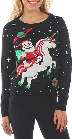 santa unicorn christmas sweater
