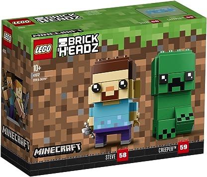 LEGO brickheadz Steve & Creeper (41612), Minecraft Figuras: Amazon ...