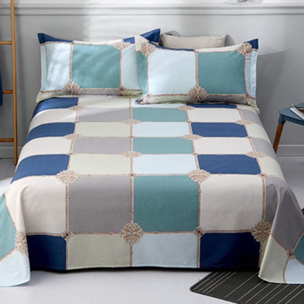DQMSB Cotton Sheets Men and Women Double Cotton Quilt 1/1.2/1.5/1.8/2m (Color : E, Size : 150X230cm) by DQMSB