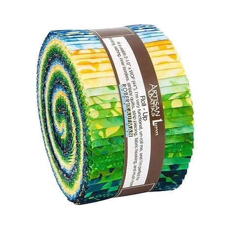 Sunny Day Roll Up 2.5 Precut Cotton Fabric Quilting Strips Jelly Roll Assortment Robert Kaufman RU-827-40 Artisan Batiks