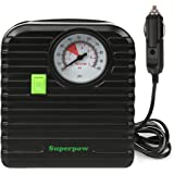 Leelbox Portable Auto Mini Air Compressor Pump,Tire Inflator,12V 100PSI Mini Tire Pump for Car,Motorboad,Bicycle or Basketballs,Steamboat And Other Inflatable
