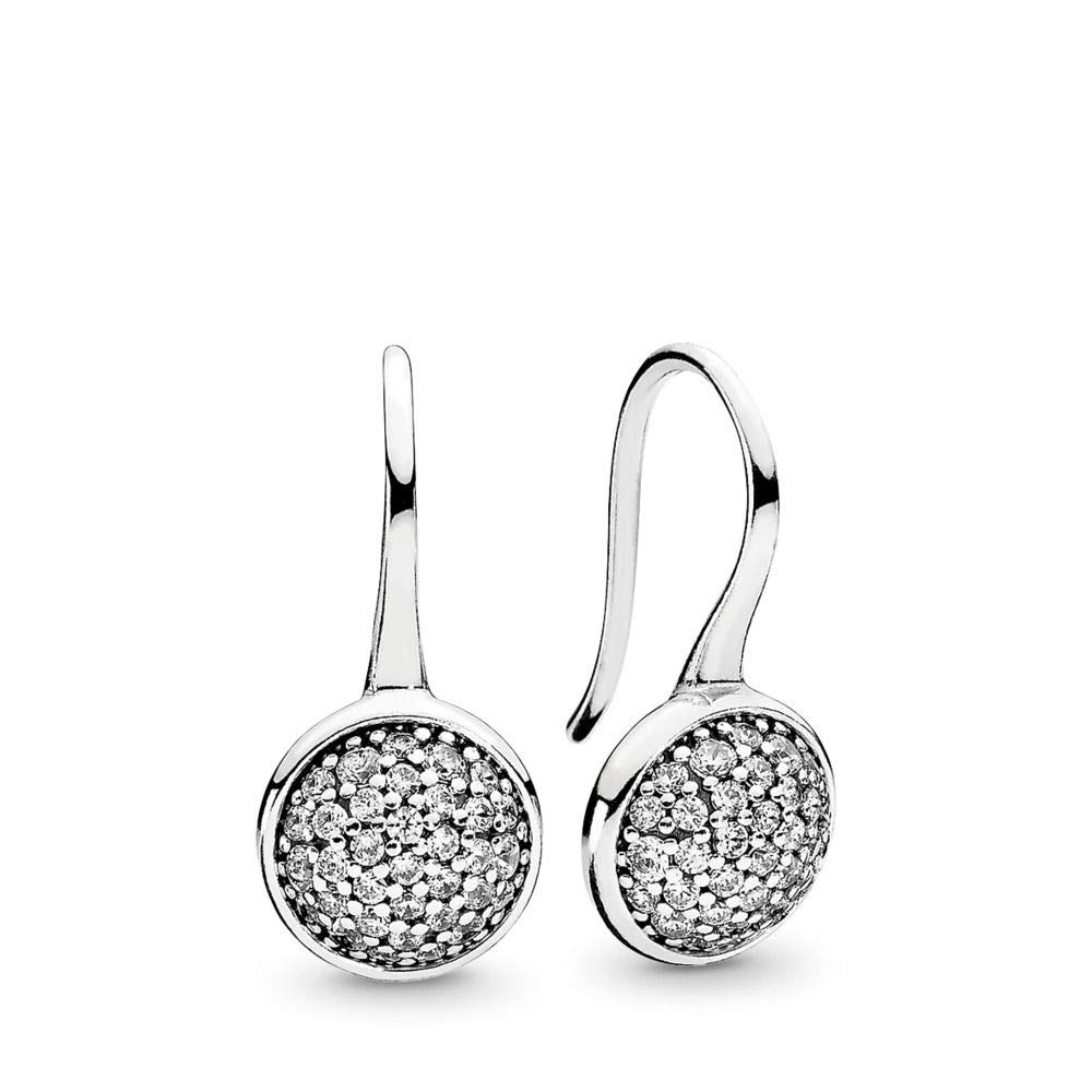PANDORA Dazzling Droplets Drop Earrings, Sterling Silver, Clear Cubic Zirconia, One Size