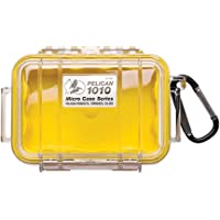 Waterproof Case | Pelican 1010 Micro Case - for Cell Phone, GoPro, Camera, and More (Yellow/Clear)