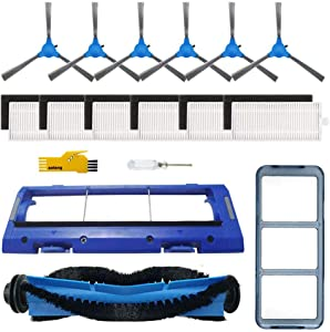 SOWOSALL Replacement Parts for RoboVac 11S, RoboVac 30, RoboVac 30C, RoboVac 15T, RoboVac 15C, RoboVac 12, RoboVac 35C Robot Vacuum Cleaner Accessories Kit Filters, Side Brushes, Rolling Brush