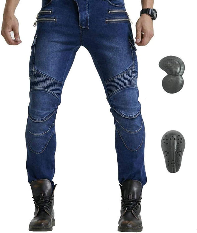 Los últimos Pantalones De Moto Para Hombre, Pantalones De Moto, Pantalones De Moto Off-road, Con Versión Mejorada De Esterilla Protectora Extraíble, Pantalones De Moto Anticaída