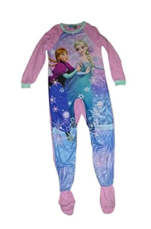 4e875e725c Amazon.com  Disney Frozen Girls Anna   Elsa Blanket Sleeper Pajama ...