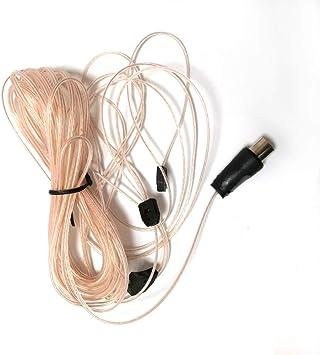 Ochoos - Cable de conexión de antena FM (5 m, 75 Ohm): Amazon ...